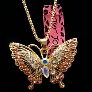 Betsey Johnson pretty butterfly necklace